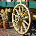 Picture - An old style wagon in the Old Town of Temecula.