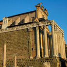 Picture - The Temple of Antoninus and Faustina at the Roman Forum in Rome.