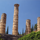 Picture - Temple of Apollo circa 4th century BC in Delphi (Delfi), Greece.