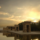Picture - Temple of Debod in Madrid .