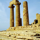 Picture - Columns at the temple of Heracles in Agrigento.