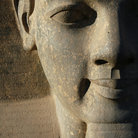 Picture - Statue detail of Colossi of Ramses II in front of Luxor Temple in Luxor.