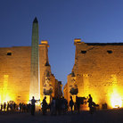 Picture - Luxor Temple at night.