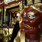 Picture - Detail of the Chinese Temple Thian Hock Keng in Singapore.