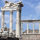 Picture - Ruins of the Temple of Trajan at Pergamon.