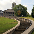 Picture - Stairs leading to the State Capitol in Nashville, Tennessee.
