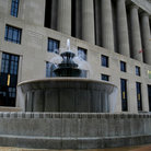 Picture - Courthouse Fountain in Nashville, Tennessee.
