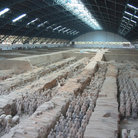 Picture - Main hall of terracotta warriors.