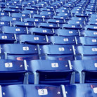 Picture - Sea of blue seats at Texas Stadium in Irving.