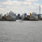 Picture - The Thames flood barrier in London.