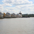 Picture - The flood barrier on the Thames at London.