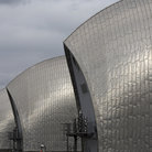 Picture - Close up of the Thames Flood Barrier in London.