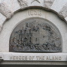 Picture - Plaque commemorates the Heroes of the Alamo.