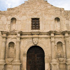 Picture - Entrance to the Alamo in San Antonio.