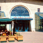 Picture - Outdoor patios at The Forks Market in Winnipeg.