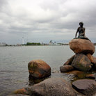 Picture - The Little Mermaid on a rock in the ocean off Copenhagen.