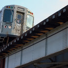 Picture - Kimball Brown Line Elevated Train, Chicago.