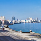 Picture - View over The Malecon on a calm day in Havana.