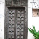 Picture - Lamu' door in the Old Town of Mombasa.
