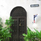 Picture - Lamu' door in Mombasa's Old Town.