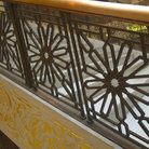 Picture - Detail of art deco staircase of Rookery, Chicago. .