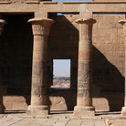 Picture - West Colonnade of the Temple of Isis at Philae Island, Aswan.