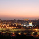 Picture - An evening view of the Old City of Jerusalem.