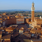 Picture - View over the city of Siena.