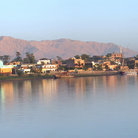 Picture - View of Thebes (Luxor) from the Nile.