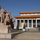 Picture - Revolutionary sculpture in Tiananmen Square near Mao's Mausoleum in Beijing.