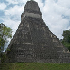Picture - A pyramid at Tikal archeological site.