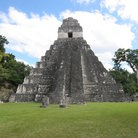 Picture - Temple on gran plaza at Tikal.