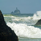 Picture - An offshore lighthouse at Tillamook.