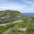 Picture - The Tintagel Castle on the Cornish Coast.