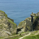 Picture - Walking path at the ruins of Tintagel Castlel.