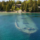 Picture - Sunken boat at Tobermory.
