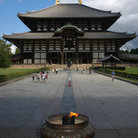 Picture - Todai-ji temple, largest wooden building in the world, in Nara.