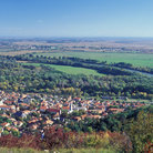 Picture - View over Tokaj in summer.