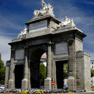 Picture - Puerta Toledo in Madrid.