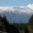 Picture - Distant view of Mt Ngarahoe and Tongariro.