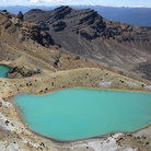 Picture - Emerald Lakes in Tongariro National Park.