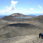 Picture - Hiking in Tongariro National Park.
