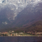 Picture - View of Torbole and mountains from Garda Lake.