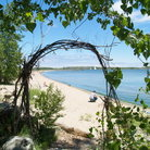 Picture - A beach on Toronto Island.
