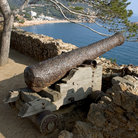 Picture - Cannon and fortification at Tossa de Mar.