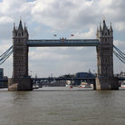 Picture - The Tower Bridge over the River Thames in London.
