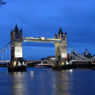 Picture - Tower Bridge in London in the evening.