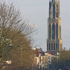 Picture - Distant view to the Domtoren of Cathedral of St Martin in Utrecht.