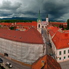 Picture - The view from the Tower of Lotrscak out over the city of Zagreb.