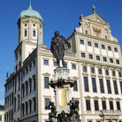 Picture - Scupture of Augustus in front of the Augsburg Town Hall.